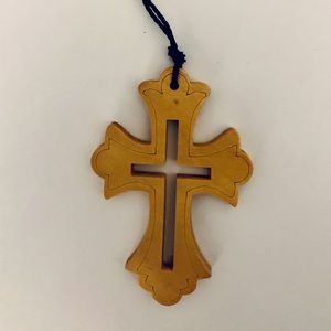 Jewelry - Wooden Cross Necklace
